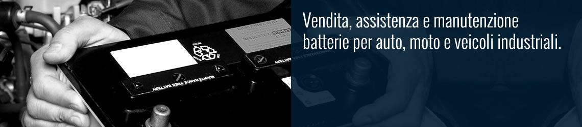 Vendita batterie per auto, moto e veicoli industriali
