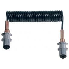 Spirale elettrica 7 poli 24V/N in Hytrel® completa di spine in alluminio ISO 1185 e mollone metallico, Ø spira 40 mm. lunghezza max. estensibile m. 3,5-00552600