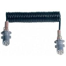Spirale elettrica 7 poli 24V/S in Hytrel® completa di spine in alluminio ISO 3731 e mollone metallico, Ø spira 40 mm. lunghezza max. estensibile m. 3,5-00552700