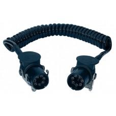 Spirale elettrica EBS 7 poli 24V in Poliuretano ISO 4141/7638-1, Ø spira 30 mm. lunghezza max. estensibile m. 4-00558785