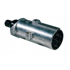 Spina 7 poli 24V/N ISO 1185 in alluminio con contatti faston-00590700