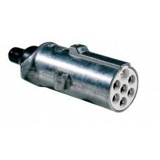 Spina 7 poli 24V/S ISO 3731 in alluminio con contatti faston-00591100