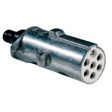 Spina 7 poli 24V S alluminio con contatti a vite-00591600