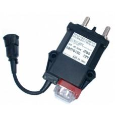 Teleruttore generale di corrente a ritenuta meccanica con stacco del positivo, connettore volante din e contatto ausiliario; azionamento a distanza e manuale-08070160