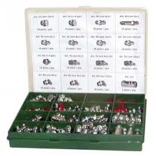 Kit ingrassatori  (cassetta con ingrassatori e testine) 250 pz.-086...