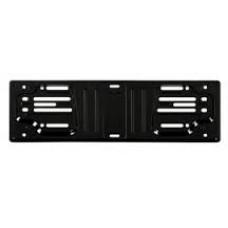 Portatarga anteriore in acciaio nero-1019922