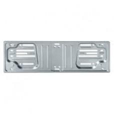 Portatarga anteriore in acciaio bianco-1019923
