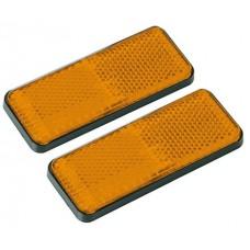 Coppia catarifrangenti arancio 90x35 mm. adesivi-1020541