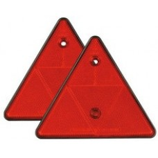 Coppia catarifrangenti triangolari arancio150x130 mm.-1020543