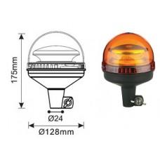 Lampeggiante Led 12/24 V ad innesto rigido h 175 mm-102189R35309...
