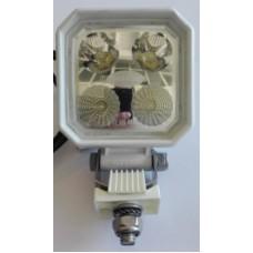 Faro bianco 4 led 90x90 IP69K con cavo e interruttore bivoltaico-102963LBIS0C...