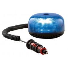 Lampeggiante Led 12/24 V Calotta blu base magnetica con presa accendino-1036429...