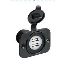 Doppia presa USB 12/24 V-1039005