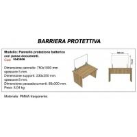 Pannello protezione batterica con passa documenti dimensione passa documenti mm 80x300mm750x1000x5-1043906