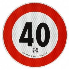 Contrassegno velocita' Km 40-105040...