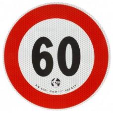 Contrassegno di velocità Km 60-105060...