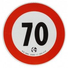 Contrassegno di velocità Km 70-105070...