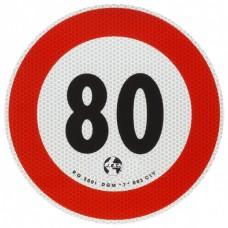 Contrassegno di velocità Km 80-105080...