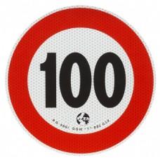 Contrassegno di velocità Km 100-105100...