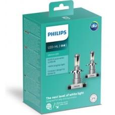 Kit 2 pz. lampade Philips LED retrofit Ultinon 12 V H4 P43t-38-11342ULWX2