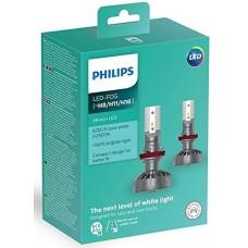 Kit 2 pz. lampade Philips LED retrofit Ultinon 12 V H8/H11/H16-11366ULWX2