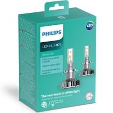 Kit 2 pz. lampade Philips LED retrofit Ultinon 12 V H7-11972ULWX2