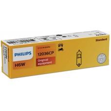 Lampada Philips H6W 12V 6W-12036CP...