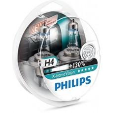 Kit lampade Philips H4 12V X-Treme Vision +130%-12342XV+S2
