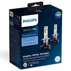 Kit 2 pz. lampade Philips LED retrofit  X-treme Ultinon 12 V H4 P43t-38-12901HPX2