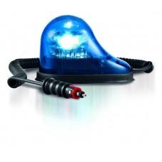Lampeggiante GDO  12/24 V Led presa accendino base magnetica calotta blu luce rotante-74539