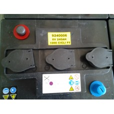 Batteria 6v 240ah trazione TUBOLARE-9240006