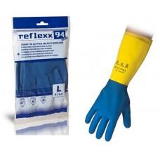 1 Paio di guanti in Lattice 80 gr. Taglia S-94/S