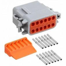 Kit connettore serie DTM porta femmina 12 vie-KITDTM12F...
