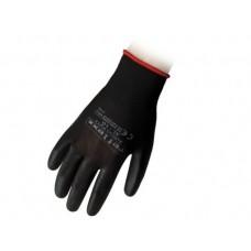 1 Paio guanti supportati in poliuretano nero taglia S-PU13S