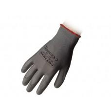 1 Paio guanti supportati in poliuretano grigio taglia L-PU14L