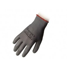 1 Paio guanti supportati in poliuretano grigio taglia S-PU14S