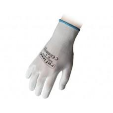 1 Paio guanti supportati in poliuretano bianco taglia L-PU15L