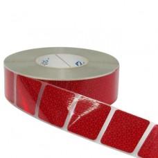 Nastro segmentato Segnalazione Sagome Veicoli - Rosso 50 mt.-REFLEXITETEL5