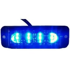 Fanale strobo blu 4 led12-24 V 11X3,5X1,5 cm.-STROBO001