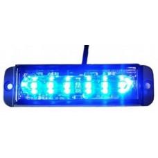 Fanale strobo blu 6 led12-24 V 13X3,5X1,5 cm.-STROBO002